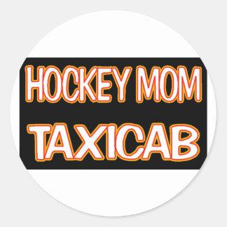 Hockey Mom Taxi Classic Round Sticker