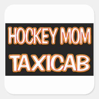 Hockey Mom Taxi Square Sticker