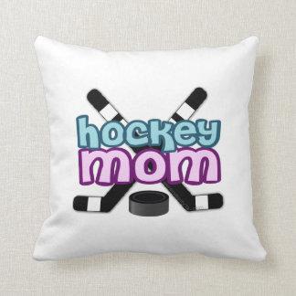 Hockey Mom Throw Pillows