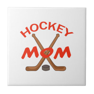 HOCKEY MOM SMALL SQUARE TILE