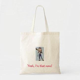 """Hockey mom tote bag """"Yeah I'm that mom!"""""""