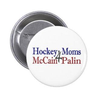 Hockey Moms 4 McCain Palin Pins
