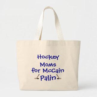 Hockey Moms for McCain Palin Canvas Bags