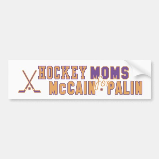 Hockey Moms for McCain Palin Bumper Sticker