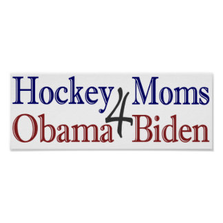 Hockey Moms for Obama Biden Poster