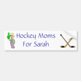 Hockey Moms for Sarah Bumper Sticker Car Bumper Sticker