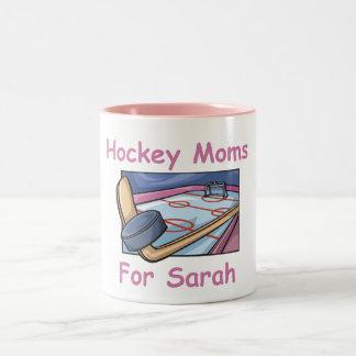 Hockey Moms for Sarah Mug