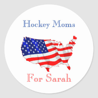 Hockey Moms For Sarah Stickers
