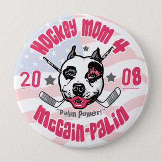 Hockey Moms Pit Bull Lipstick 2 Pinback Button