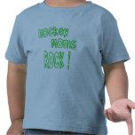 Hockey Moms Rock ! (green) T-shirts