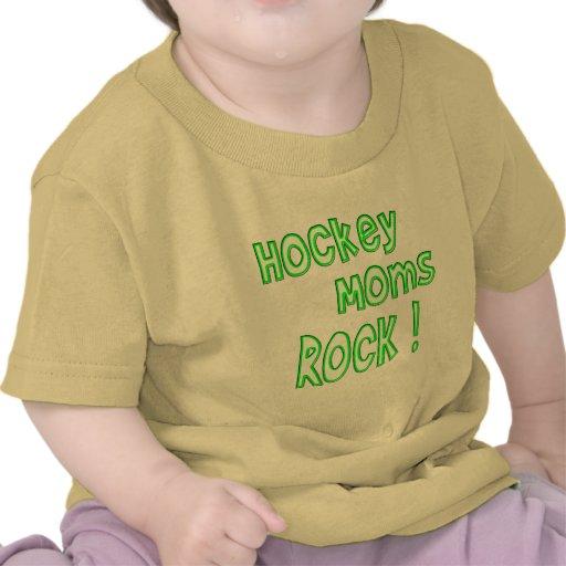 Hockey Moms Rock ! (green) Tee Shirt