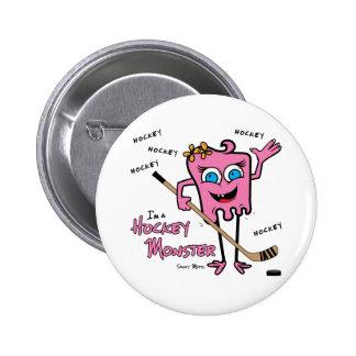 Hockey Monster Pink Pins