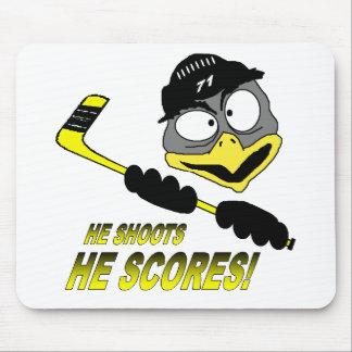 Hockey Mousepad del pingüino Alfombrillas De Raton