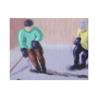 Hockey Moves Canvas Print