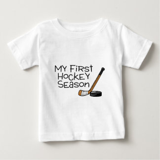 Hockey My First Hockey Season (Stick and Puck) Baby T-Shirt