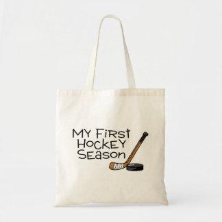 Hockey My First Hockey Season (Stick and Puck) Tote Bag