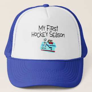 Hockey My First Hockey Season (Stick Figure) Trucker Hat