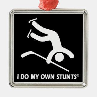 Hockey My Own Stunts Metal Ornament