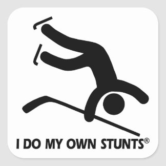 Hockey My Own Stunts Square Sticker