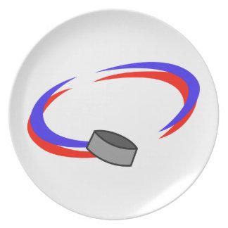 Hockey Name Drop Melamine Plate