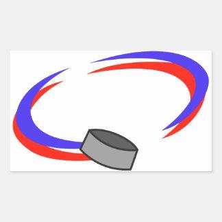 Hockey Name Drop Rectangular Sticker