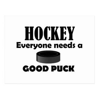 Hockey Needs Puck Postcard