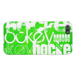 Hockey; Neon Green Stripes iPhone SE/5/5s Cover