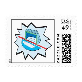 Hockey Net Postage Stamp