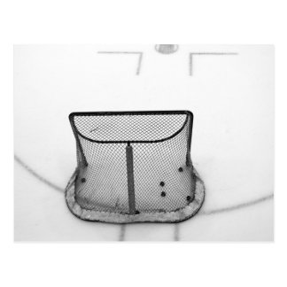 Hockey net postcard