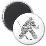 Hockey Netminder Fridge Magnet