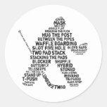 Hockey Netminder Stickers