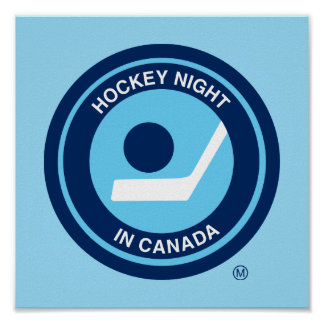 Hockey Night in Canada retro logo Poster