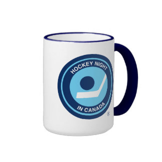 Hockey Night in Canada retro logo Ringer Coffee Mug