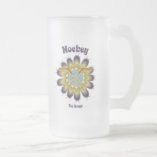 Hockey Not Drugs Frosted Glass Beer Mug