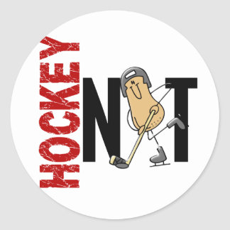 Hockey Nut 1 Classic Round Sticker