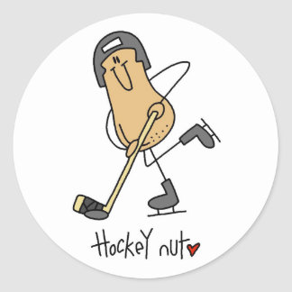 Hockey Nut T-shirts and Gifts Classic Round Sticker