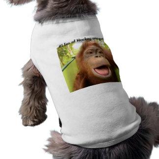 Hockey Orangutan #1 Fan for Dog Doggie Shirt