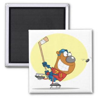 Hockey-Oso-Jugador Iman De Nevera