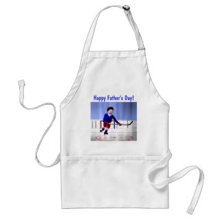 Hockey Overtime Father's Day Adult Apron