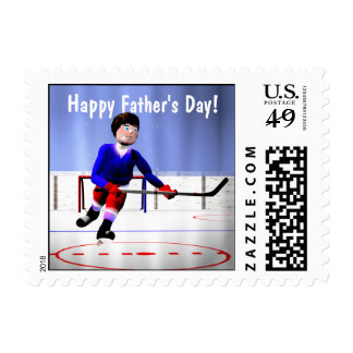 Hockey Overtime Father's Day Postage