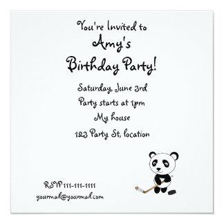 Hockey panda invitation