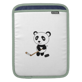 Hockey panda iPad sleeves