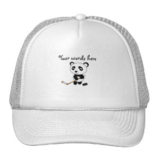 Hockey panda trucker hat