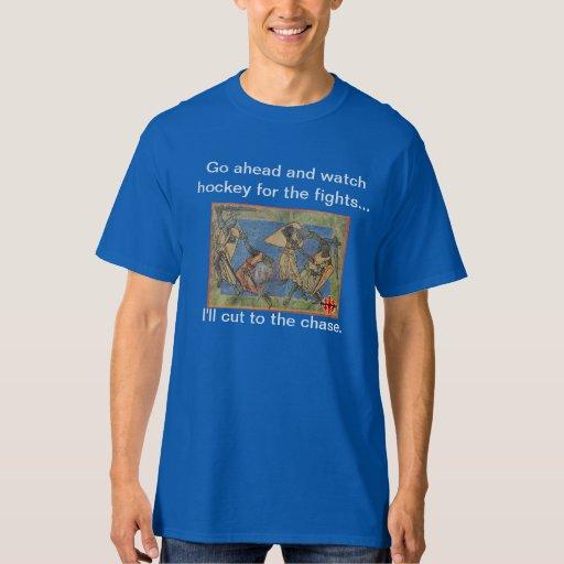 Hockey para la camiseta de las luchas