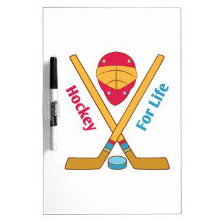 Hockey para la vida tablero blanco