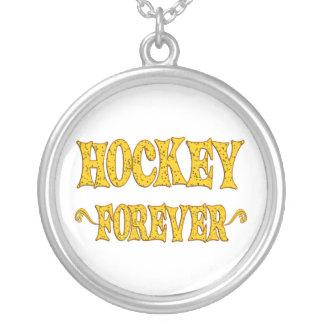 Hockey para siempre colgante redondo