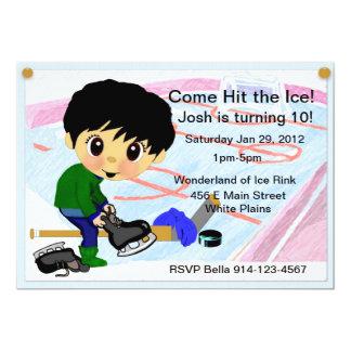 """Hockey Party 5"""" X 7"""" Invitation Card"""