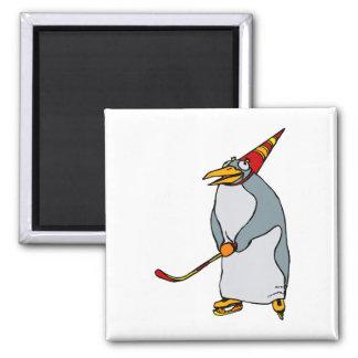 Hockey party Penguin Magnet