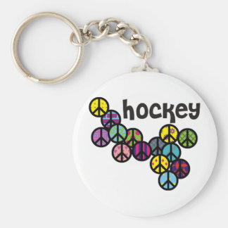 Hockey Peace Signs Filled Keychain
