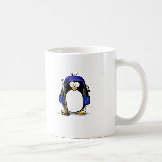 Hockey Penguin - Blue Coffee Mug